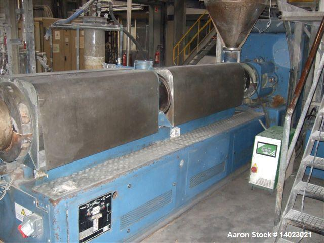 Used-Bausano MD2 154 21 AQVK Counter-Rotating Twin Screw Extruder