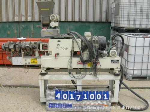 Used- Clextral Lab Size Twin Screw Extrusion System consisting of: (1) Clextral lab size twin screw extruder, type BC21. 24:...