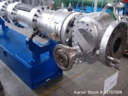 """Used-Berstorff ZE 110R Co-Rotating Twin Screw Extruder.  5"""" (127 mm) diameter, 40 L/D, output 3970 lbs/h (1800 kg/h), handle..."""