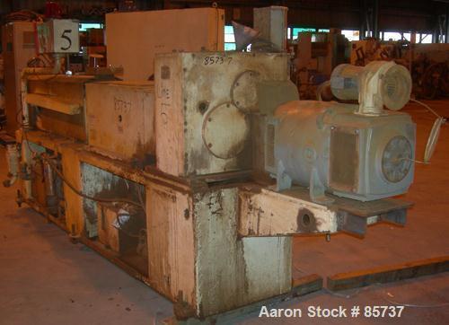 Used- Cincinnati Milacron Conical Counter-Rotating, Intermeshing, Twin Screw Ext