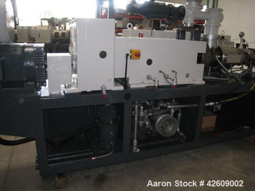 "Used-Cincinnati CM55 Twin Screw Extruder.2.16"" (55 mm), counter-rotating, capacity U-PVC pipes 0.4""-6.3"" (10-160 mm), 330-39..."