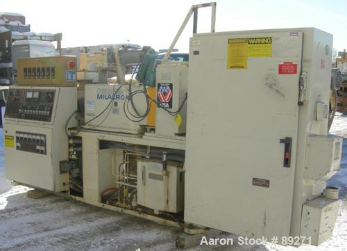 Used- Cincinnati Conical Counter-Rotating Twin Screw Extrusion Equipment, 55 mm, model CM55. Approximate 20:1 L/D ratio. App...