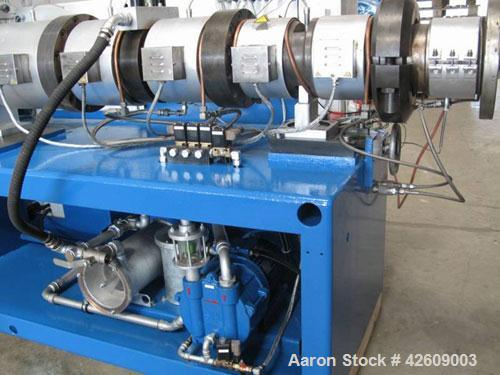 """Used-Cincinnati CM80 Twin Screw Extruder, counter-rotating, 3.15"""" (80 mm), capacity up to 1036 lbs/h (470 kg/h) ofU-PVC pipe..."""