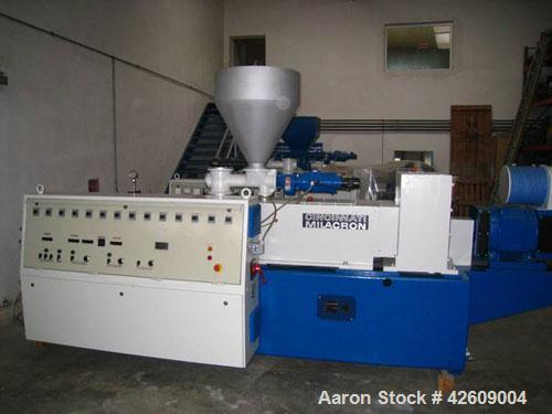 "Used-Cincinnati CM80 Twin Screw Extruder, counter-rotating, 3.15"" (80 mm), capacity up to 1036 lbs/h (470 kg/h) ofU-PVC pipe..."