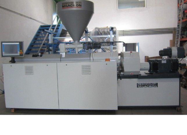 """Used-Cincinnati CMT 68 Twin Screw Extruder.  2.67""""/5.76""""  (68/146.5 mm) conical screws.  66.6 Hp/50 kW motor.  With (4) sect..."""