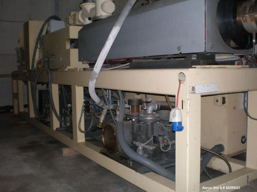 Used-Cincinnati CMT80 Conical Twin Screw Extruder for production of PVC profiles