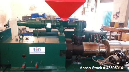Used- Cincinnati Milacron Twin Screw Extruder, Model CM-55. 55/110mm (Conical) Counter Rotational Screws. 30 kw DC Feeder, 1...