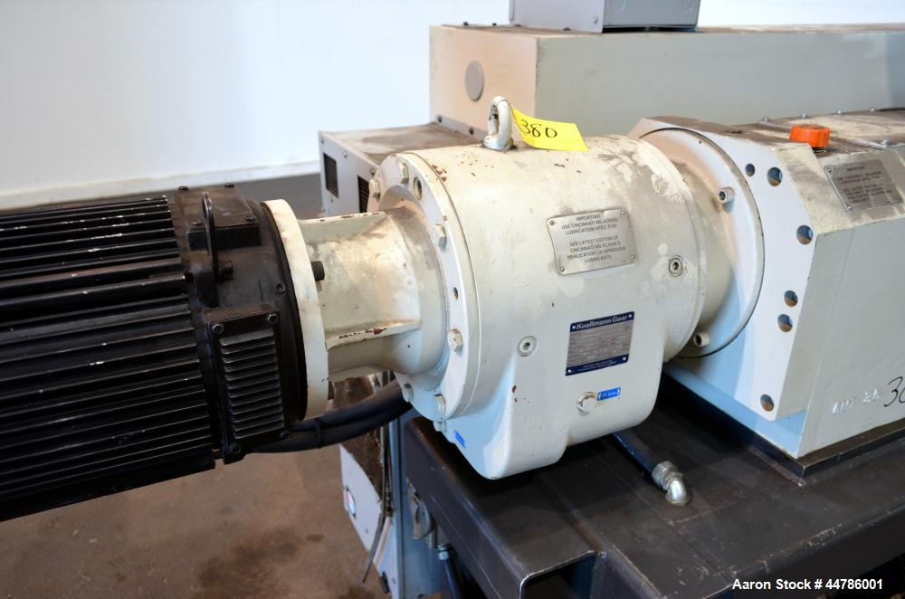Used- Cincinnati Milacron 35mm Conical Counter-Rotating Twin Screw Extruder, Mod