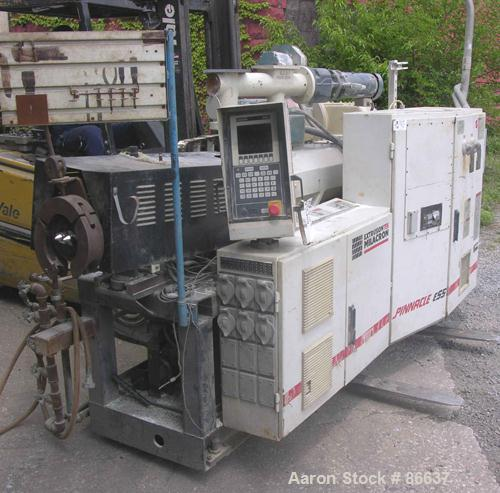 Used- Cincinnati Milacron 55mm Conical Counter-Rotating Twin Screw Extruder, Model Pinnacle E55 PIN. Approximate 20 to 1 L/D...