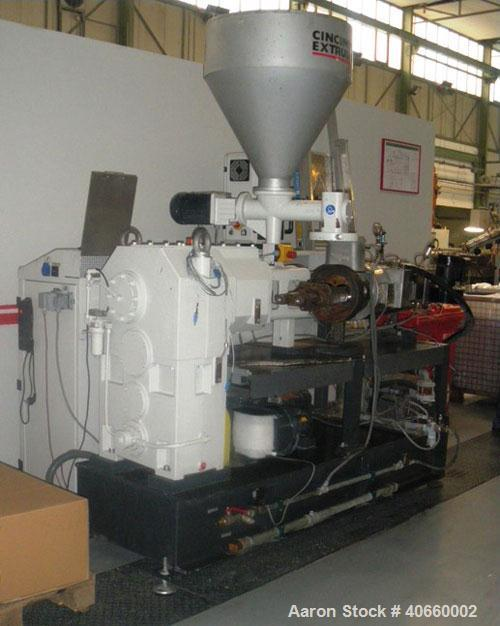 "Used-Cincinnati Titan 45P APC-1100-UT Twin Screw Extruder, conical 1.77""/3.82"" (45/97 mm) diameter screws, suitable for prof..."
