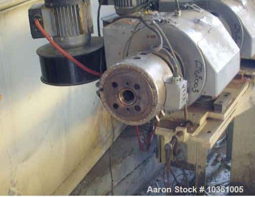 "Used- Cincinatti Titan Counter Rotating Twin Screw Extruder. Screw diameter 1.3"" (35 mm), conical 11/48 screw configuration,..."
