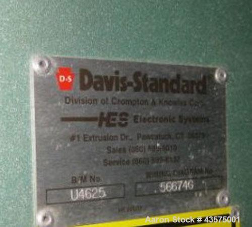 Used- Davis Standard Gemini Parallel 94mm Counter-Rotating Twin Screw Extruder,