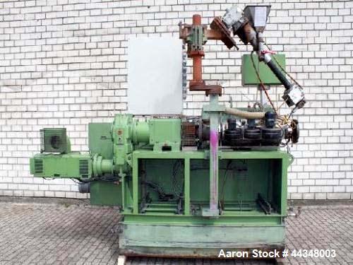 "Used- Krauss Maffei Counter-Rotating Conical Twin Screw Extruder, Model KMD-2-50-KK. Screw diameter 2"" - 4"" (50 - 103 mm), 2..."