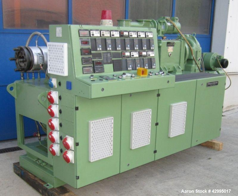 "Used-Krause Maffei KMD 2-60KK Twin Screw Extruder, 2.36"" (60 mm) screws, output 551 lbs/h (250 kg/h)."