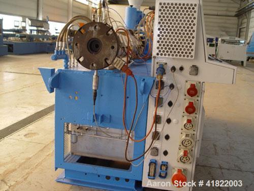 "Used-Krauss Maffei KDM 2.50 KK Counter-Rotating Twin Screw Extruder. 2"" - 4"" (50 - 103 mm) conical screw, 33 hp/25 kW DC dri..."
