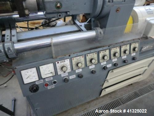 """Used- Leistritz LS 34 Twin Screw Extruder. Counter rotating. 1.18"""" (30 mm) screws, 25 L/D. Drive 10 HP (7.5 kW). Throughput ..."""