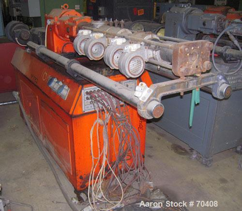 Used- Leistritz 34mm Counter-rotating Twin Extruder, Model LSM30/34. Approximately 24 to 1 L/D ratio. (2) 34mm counter-rotat...