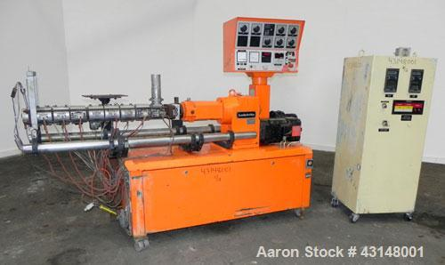 Used- Leistritz 34mm Counter-Rotating Twin Screw Extruder, Model LSM30.34 GL. Approximately 38 to 1 L/D ratio. Electrically ...