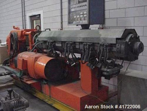 """Used-Leistritz ZSE110/2M Twin Screw Counter-Rotating Extruder. 4.3"""" (110 mm), L/D 20D, 5-80 rpm, 1100 lbs/h (500 kg/h) capac..."""