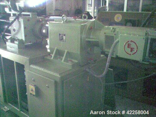 "Used-Maplan DSK-52k 2.05""/4.17"" (52/106 mm) Twin Screw Extruder, conical, counter-rotating, 24.5 hp/18.4 kW DC motor, 380V, ..."