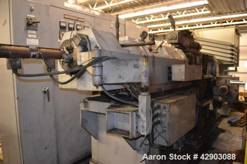 Used-Ikegai 65mm Twin Screw Extruder, Model PCM-65II. Liquid heated, and cooled. 8 Zone top vented barrel. Top mounted twin ...
