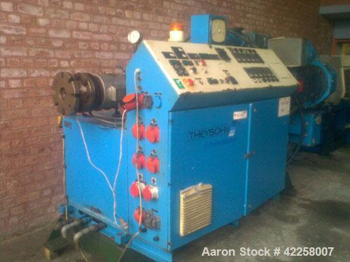 """Used-Theyson Con-60 V 2.36"""" (60 mm) Conical Twin Screw Extruder, counter-rotating 44 hp/33 kW motor, 50 hz. With a DC feeder..."""