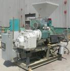 Used-55mm Cincinnati conical, counter rotating twin screw extruder. Has electrically heated, water cooled vented barrel, sta...