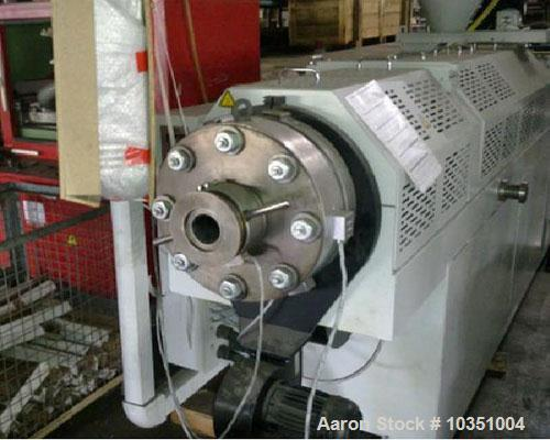 "Used- Weber DS 13.22 Counter Rotating Twin Screw Extruder. Screw diameter 4.9"" (125 mm). Maximum throughput 1984 lbs (900 kg..."