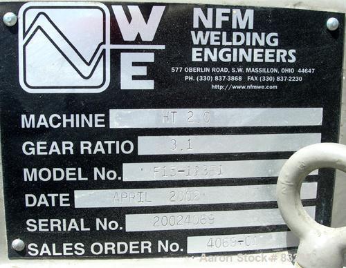 "USED: Welding Engineers twin screw extruder. 50 mm (2"") screw diameter, 42:1 L/D, model HT2.0 Counter rotating non-intermesh..."
