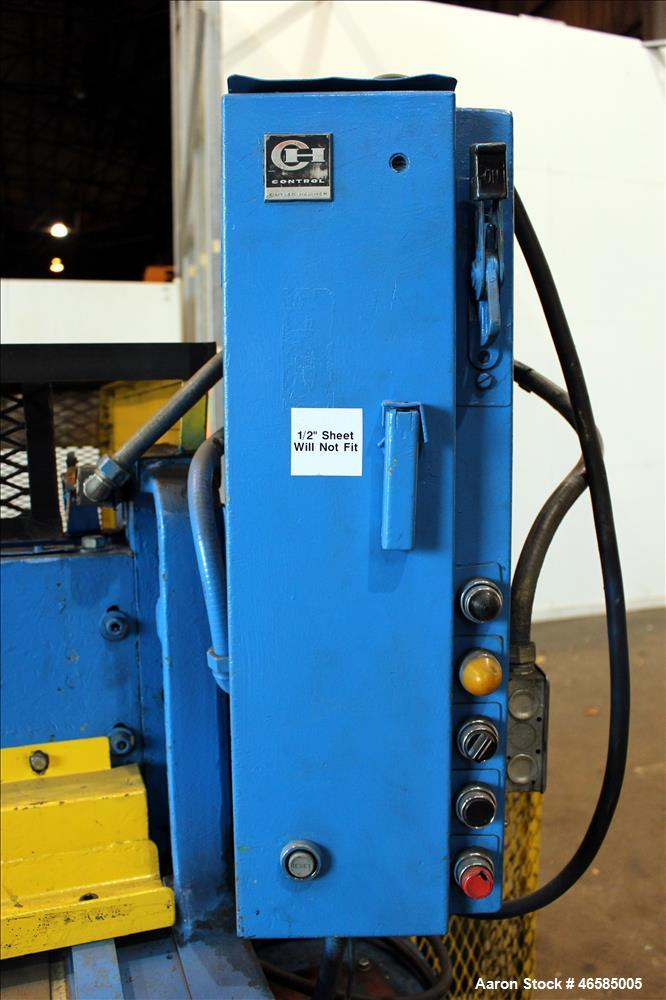 """Used- Wysong 72"""" Wide In-Line Shear, Model 1272. Driven by a 5 hp, 3/60/230/460 volt, 1745 rpm motor. Includes side mounted ..."""