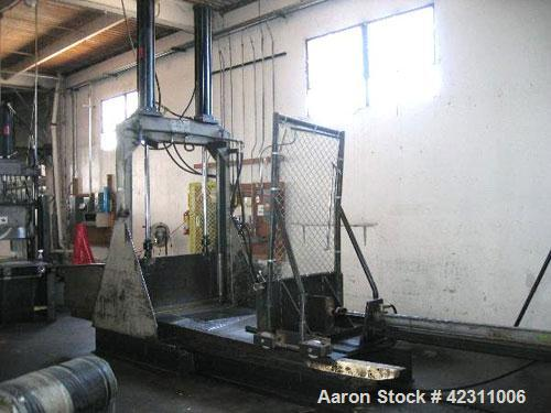 "Used- Guillotine, Hydraulically Operated. 45"" wide blade, dual piston rams with 45"" stroke, feed table with pusher, dish cha..."