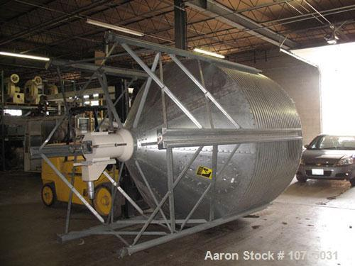 "Used-Approximate 10,000 lb Capacity Vertical Blender. 15 hp, 230/460 volt motor, 12"" auger mixer, 3"" OD vacuum take-off, sid..."