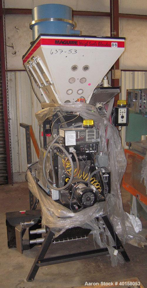 Used- McGuire Loss And Weight 3 Component Blender. Has (2) primary component hoppers with third component being a color side...
