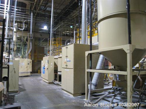 USED-Novatech model NGBBS-2, 2 component blending system. Package includes 2 component blender with 3000 lb surge hopper. Se...