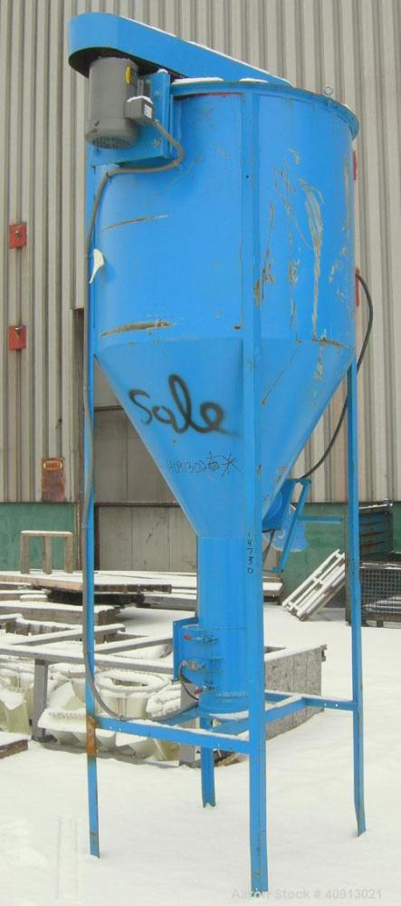 """Used-VerticalScrewMixer,Approximate35 cubic feet capacity, carbon steel. Approximately44"""" diameter x 41"""" straight side ..."""
