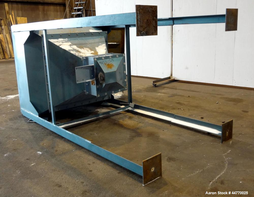 "Used- Hopper, Approximately 45 Cubic Feet, Carbon Steel.  60"" Wide x 60"" long x 20"" straight side x 43"" coned bottom. Open t..."