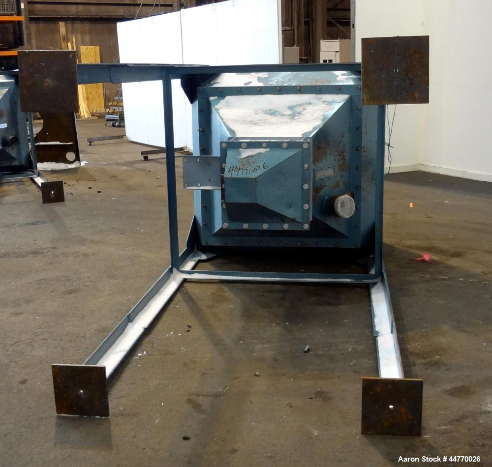 """Used- Hopper, Approximately 45 Cubic Feet, Carbon Steel.  60"""" Wide x 60"""" long x 20"""" straight side x 43"""" coned bottom. Open t..."""