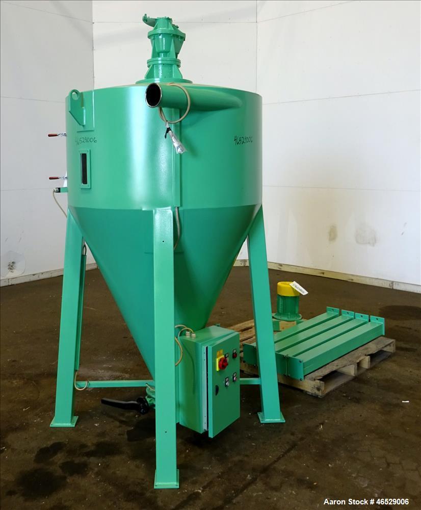 Used- Caccia Vertical Screw Mixing Hopper, Model CXA1001A, 1000 Liter Capacity