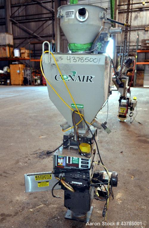 Used- Conair 2 Component Weigh Scale Blender, Model WSB0220CF, Carbon Steel. Includes a Maguire controller. Blender missing ...