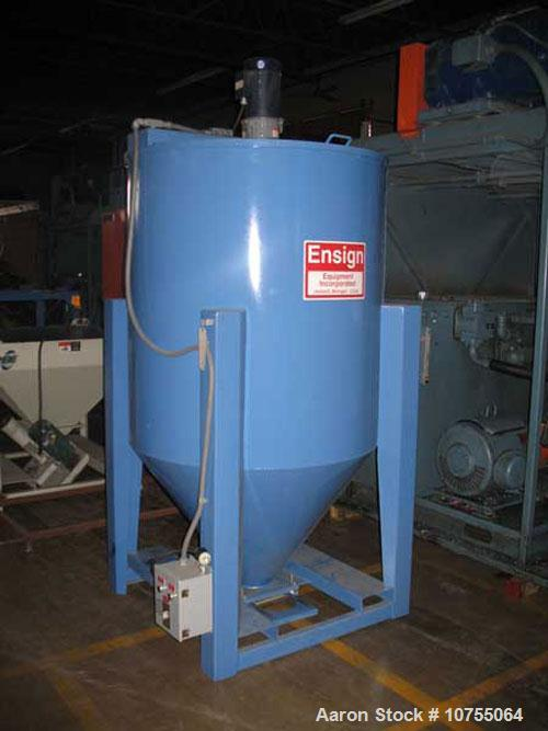 Used- Ensign Equipment model 60-6200 vertical batch mixer, 60 cubis feet mixing capacity, 2000 lbs/hr approximate output, do...