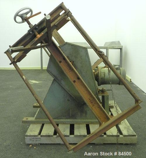 """Used- IMS Dual Drum Tumbler, Model TB-0355. Capacity (2) 55 gallon drums at 280 pounds per drum, minimum/maximum height 25"""" ..."""