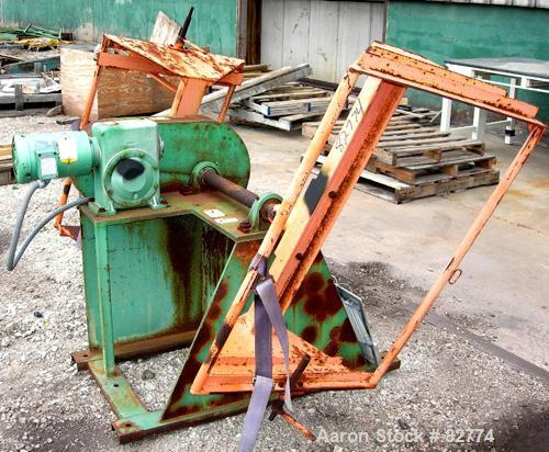 """USED: IMS dual drum tumbler, model TBD1500. Capacity (2) 55 gallon drums at 280 pounds per drum. Min/max height 25"""" to 37"""". ..."""