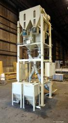 Used- Carbon Steel Pacific Engineering 4 Compartment Weigh Scale Blender, Model MBWB-IV