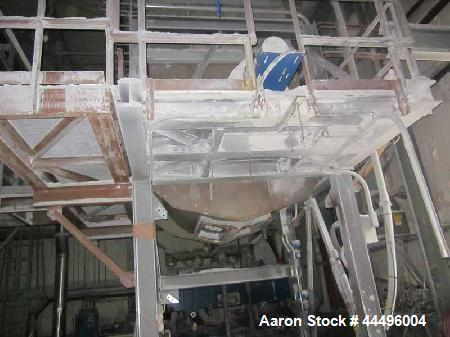 Used- Stainless Steel Isomatic Corp. Agitated Fluff Bin