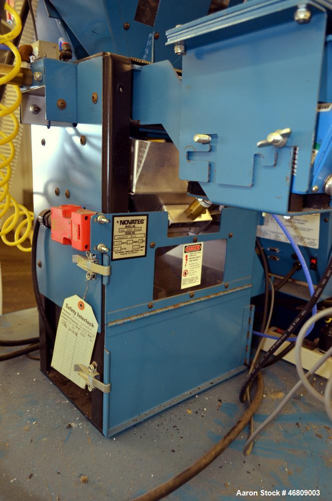 Used- Novatec 4 Component NovaBlend 600 Gravimetric Blender System, 600 Pounds Per Hour Capacity. Consists of: (4) Compartme...