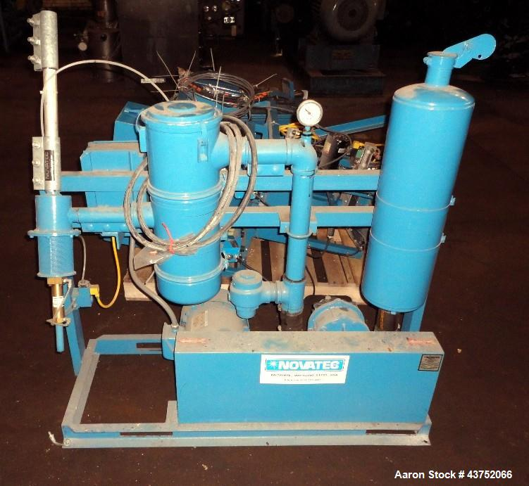 Used- Novatech 3 Component Blending System, Model MCS-206, Consisting Of: (1) Novatec pneumatic pump, model UPU, driven by a...