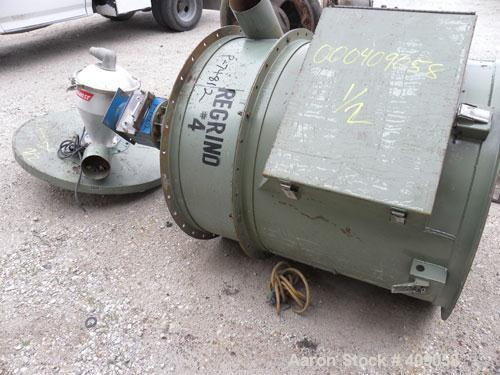 """Used- Drying Hopper, Carbon Steel. 36"""" Diameter x 32"""" deep. Top cover with loader, bottom outlet."""