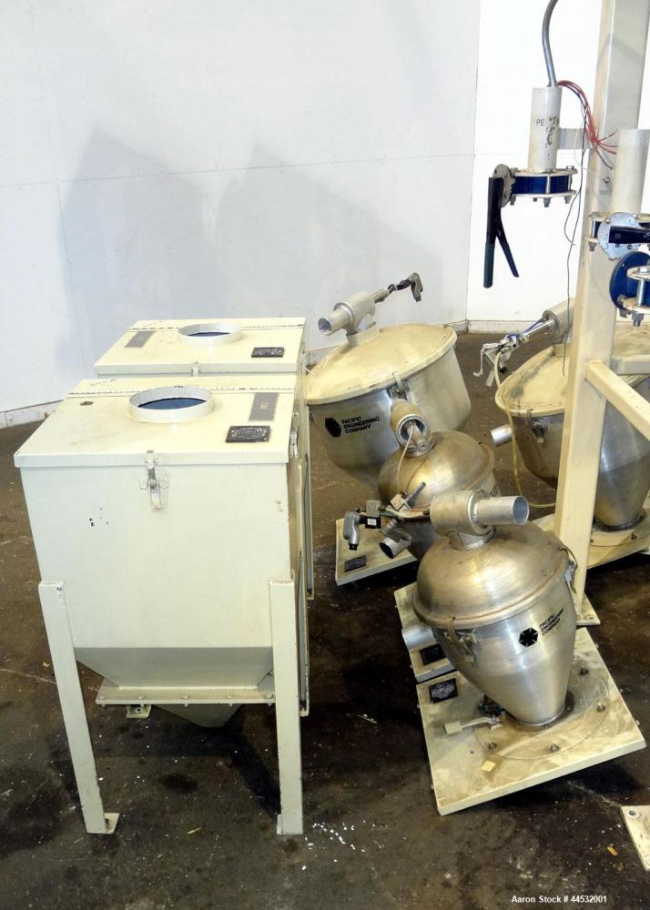 Used- Carbon Steel Pacific Engineering 6 Compartment Weigh Scale Blender, Model MBWB-VI