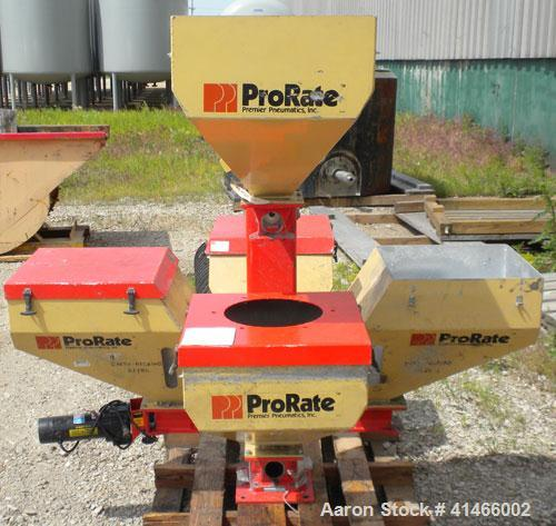Used- Premier Pneumatics Pro Rate 5 Component Feed System. 5 feed hoppers, includes (2) vacuum loaders, (4) 1/4 hp DC drives...
