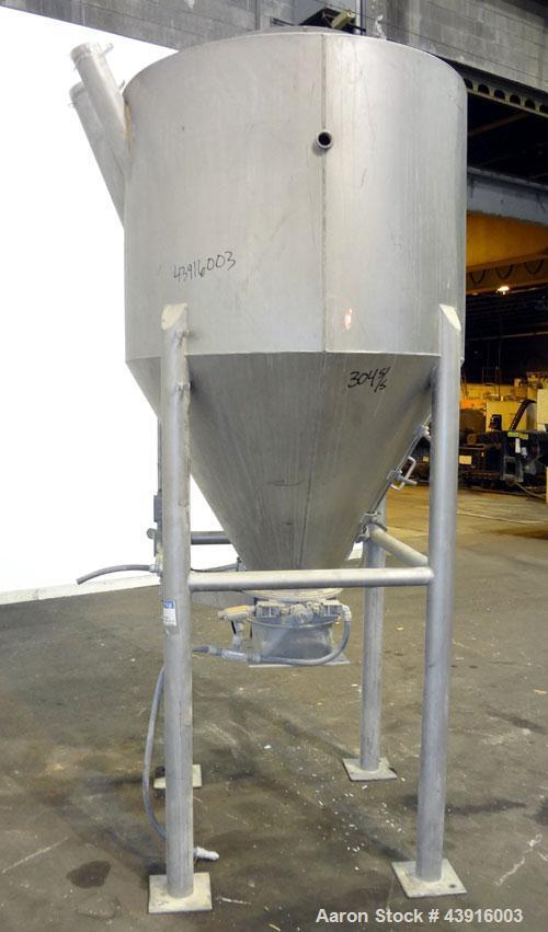Used- Stainless Steel Shick Tube-Veyor Hopper